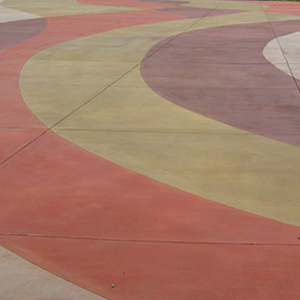 Integral Colored Concrete